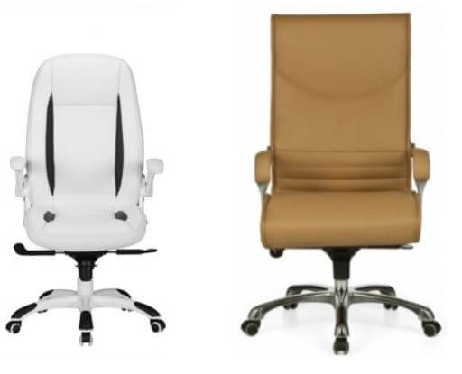 Dankontorstole kontorstole brun og hvid